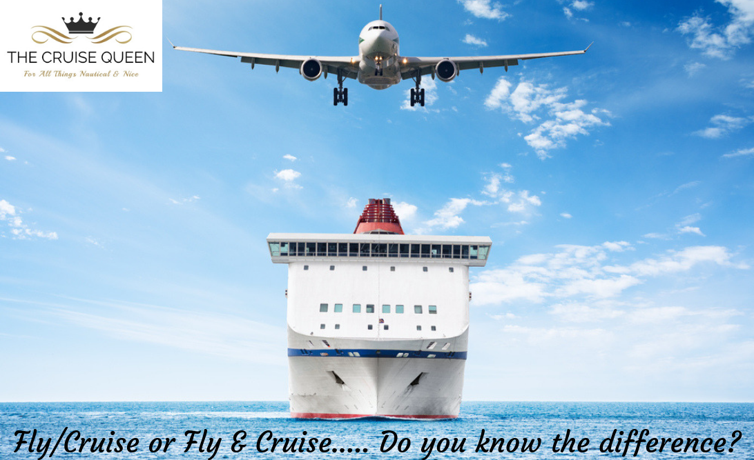 Aeroplane above a cruise ship at sea
